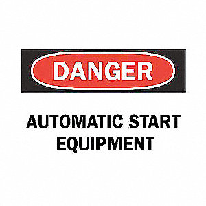 SIGN AUTOMATIC START EQUIPMENT
