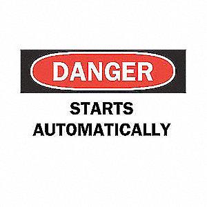 SIGN DANGER 10X14