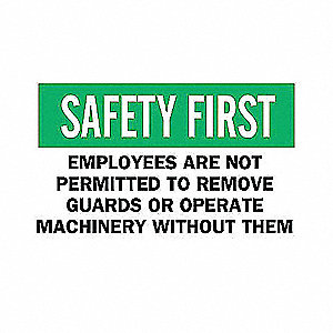 SIGN EMPLOYEES ARE NOT...GUARDS
