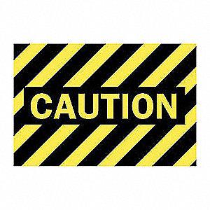 SIGN CAUTION (B/Y STRIPES)
