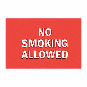 SIGN NO SMOKING ALLOWED