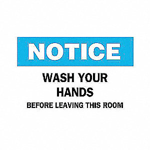 SIGN WASH YOUR HANDS BEFORE...