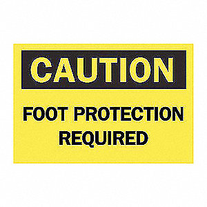 SIGN FOOT PROTECTION REQUIRED
