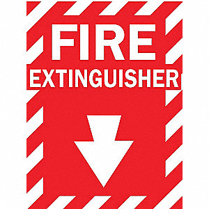 FIRE EXTGUISHER SIGN 14 X 10 POLY