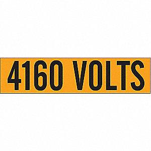 LABELS 4160 VOLTS