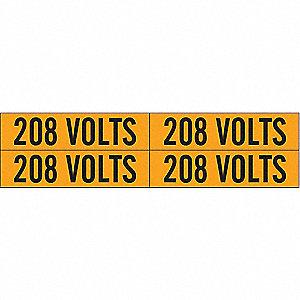 LABELS 208 VOLTS