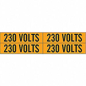 LABELS 230 VOLTS
