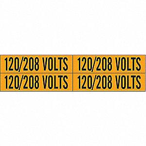 LABELS 120/208 VOLTS