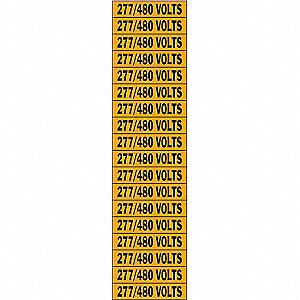 LABELS 277/480 VOLTS
