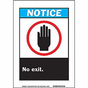 SIGN NOTICE 10X7