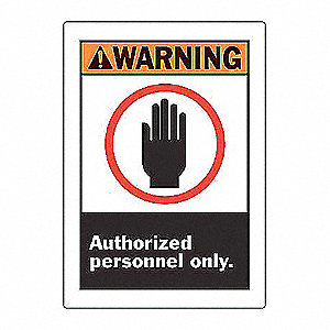 SIGN WARNING 14X10