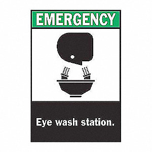 SIGN EMERGENCY 10X7