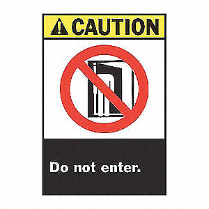 SIGN CAUTION 14X10