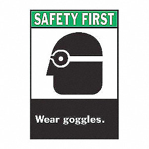 SIGN SAFETY FIRST 14X10