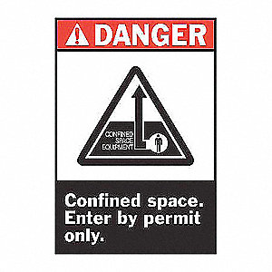 SIGN DANGER 14X10