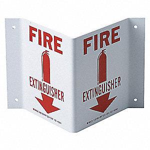 SIGN HI-VIS FIRE EXTINGUISHER