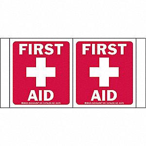 SIGN HI-VIS FIRST AID