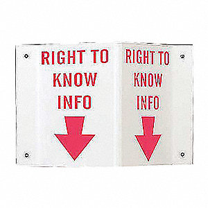 SIGN HI-VIS RIGHT TO KNOW