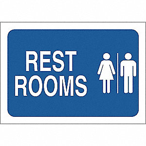 SIGN WASHROOM ALUMINUM