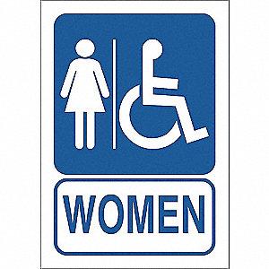 SIGN LADIES WSHRM W/WHEELCHAIR