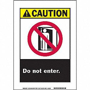 SIGN CAUTION 10X7