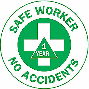 LABELS SAFE WORKER NO ACCIDENTS (1Y