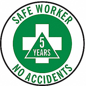 LABELS SAFE WORKER NO ACCIDENTS (5Y