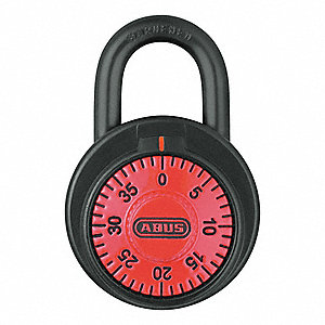Combination Padlock,Front,Red