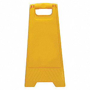 "Facility, No Header, Plastic, 24-1/2"" x 12"", Free-Standing Floor, Not Retroreflective"
