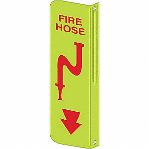 "Fire Equipment, No Header, Plastic, 18"" x 4"", Surface"