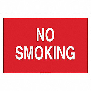 "No Smoking, No Header, Aluminum, 14"" x 20"", With Mounting Holes, Not Retroreflective"