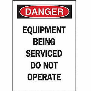 "Machine and Operational, Danger, Vinyl, 5"" x 3-1/2"", Magnetic, Not Retroreflective"