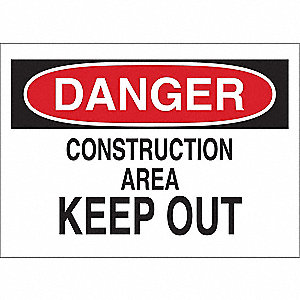 Sign,Construction Area,10 x 14 In.