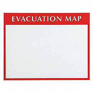 Evacuation Map Sign