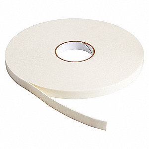 Double Sided Tape,B-156 Foam,3/4 in.,Wht