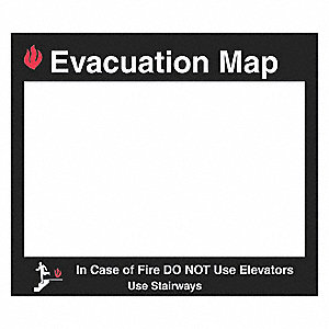 Evacuation Map In Case Of Fire Do Not Use Elevators Use Stairways Sign