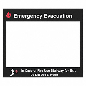 Fire Stairways Sign,15 x 17 In.
