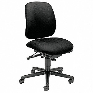 "Desk Chair,Fabric,Black,16-21"" Seat Ht"