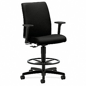 "Black Fabric Task Chair 18-3/4"" to 21-3/4"" Back Height, Arm Style: Adjustable"