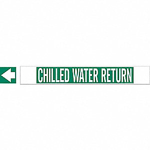 PIPEMARKER 59652 CHILLED WATER RETU