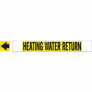 PIPEMARKER 59703 HEATING WATER RETU