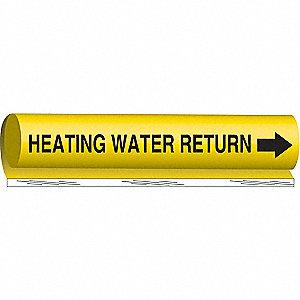 PIPEMARKER HEATING WATER RETURN