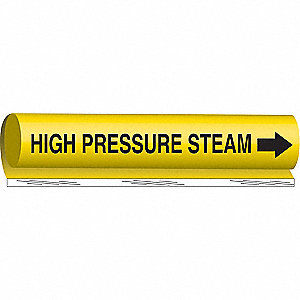 PIPEMARKER HIGH PRESSURE STEAM