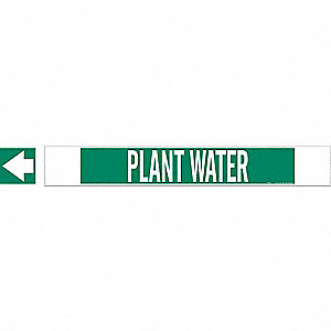 PIPEMARKER 59736 PLANT WATER