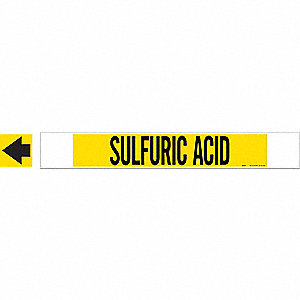 PIPEMARKER 59761 SULFURIC ACID