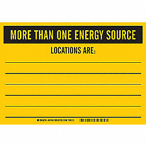 SIGN MORE THAN 1 ENERGY SOURCE 7X10