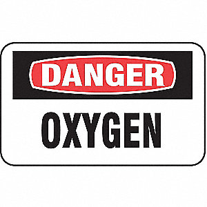 CYLINDER GAS LABELS OXYGEN