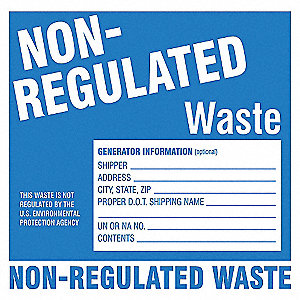 HAZARDOUS WASTE LABEL 6 IN. H PK 50
