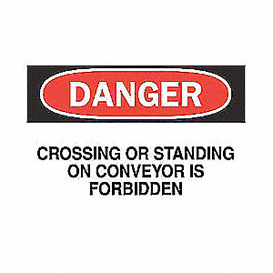 SIGN DANGER HEADING 10X14