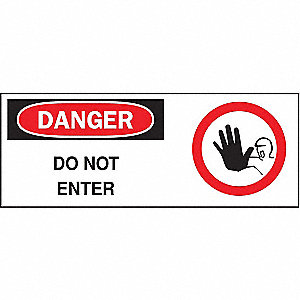 SIGN DANGER W/GRAPHIC 7X17